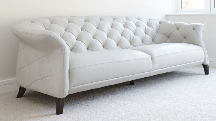 Large Modern Three Seater Leather Family Sofa | Uk Delivery