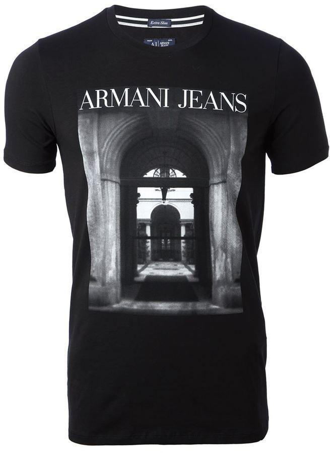 Armani Jeans digital print T-shirt on shopstyle.com