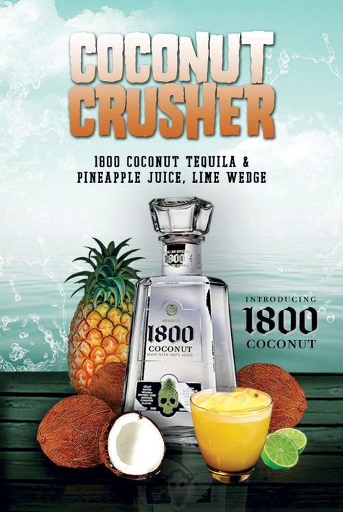 Cocunut Crusher  1800 Coconut Tequila.  I had this at Sunset Grill in OC, MD. It's amazing!