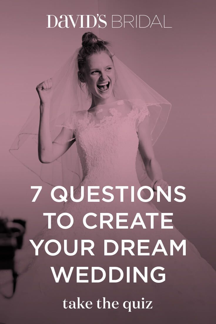 Whenever i come across a mismatched caption and picture i question - Take The 7 Question Quiz And We Ll Pull Together The Most Inspiring Pins With Wedding Dresses Bridal Party Looks And Theme Ideas