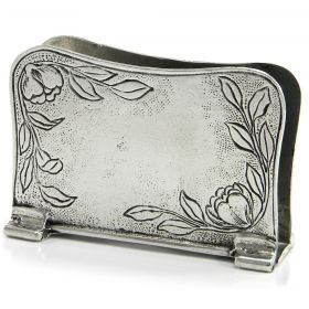 Napkin holder Art Nouveau Napkin holder of pewter made by hand. #madeinitaly #artigianato #pewter #peltro