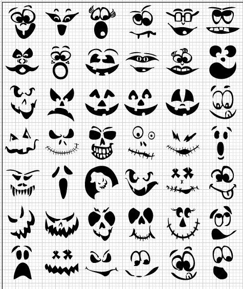 Decorate for Halloween with Jack-o-lantern faces! Cut from professional-quality…