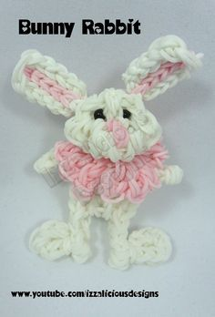 7 best rubber band loom images on pinterest loom bands rubber rainbow loom bunny rabbit figurecharm fandeluxe Gallery