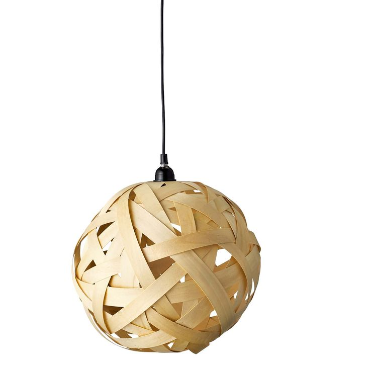 Gorgeous handmade wooden lamp from Bloomingville. www.bloomingville.com