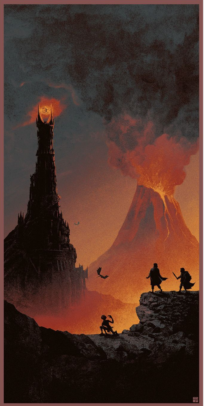 The Geeky Nerfherder: Cool Art: 'The Lord Of The Rings Trilogy' by Matt … – Tortelini