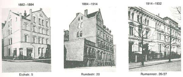 HANNOVER List * Ricarda Huch Schule an wechselnden Standorten: 1882 - 1884 Eichstr./ 1884 - 1914 Rundestr. / 1914 - 1932 Rumannstr. Hanover Germany