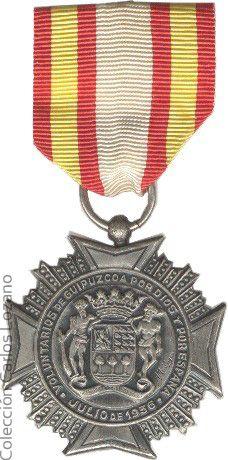 Medalla de los voluntarios de Guipúzcoa. Fuente:Coleccionesmilitares.com