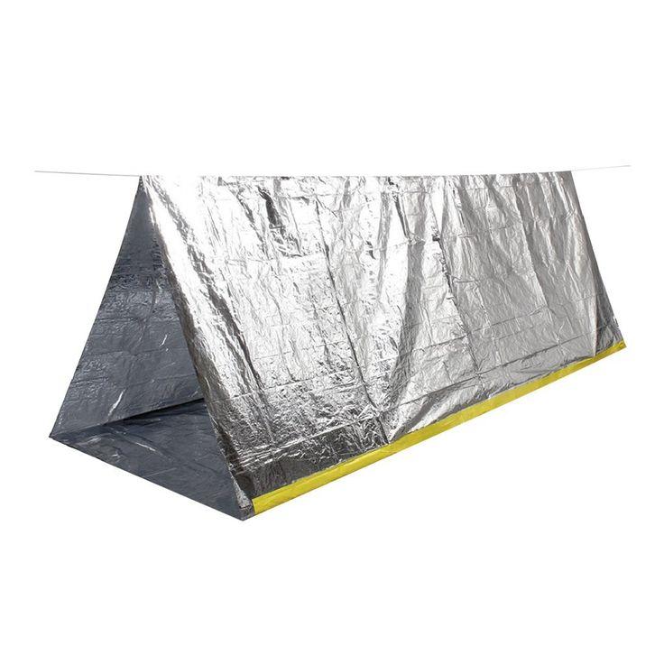 Portatile Di Emergenza Pieghevole Tenda Da Campeggio Rifugio Sopravvivenza All'aperto Campeggio: Amazon.it: Sport e tempo libero