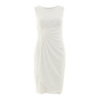 Anne Klein Ivory Lace High Street Wedding DressesIvory