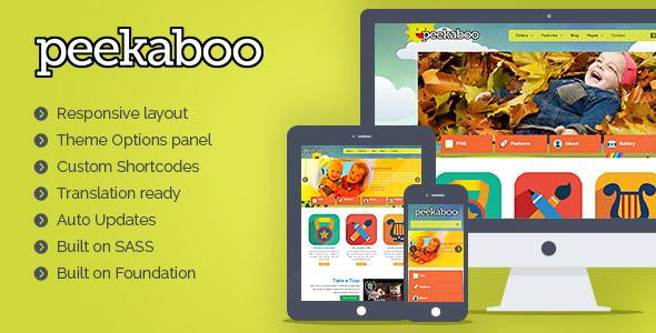 Pekaboo – Children Daycare, School Responsive WordPress Theme
