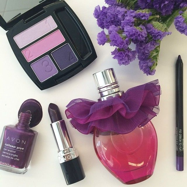 I love the purple beauty trend this season! Check out some of my favorites from Avon and mark #AvonRep