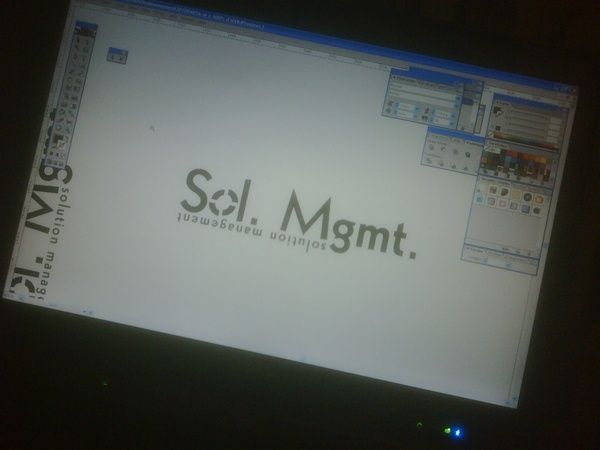 Sol.Mgmt. logo while being developed