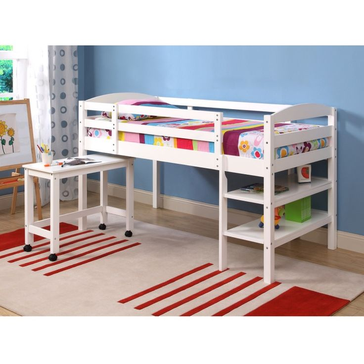 Twin Sized Loft Bed with Desk