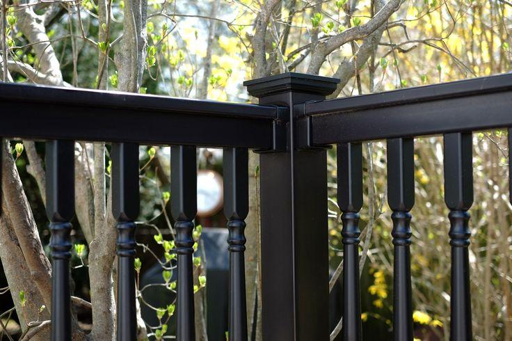illusions black vinyl pvc deck railing and balusters