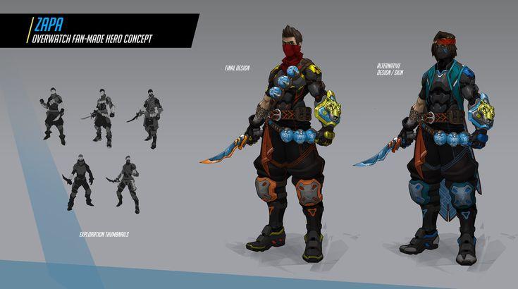ArtStation - Zapa   Overwatch Fan-made Hero Concept, Nicolás Amarilla