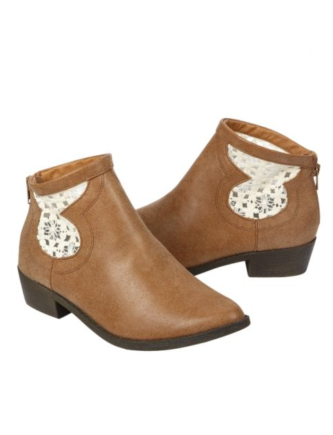 Crocheted Booties from Justice are a great choice for when the weather isn't quite warm enough for sandals