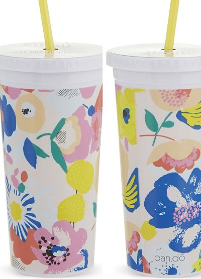 print & pattern: STATIONERY - ban.do travel mugs floral