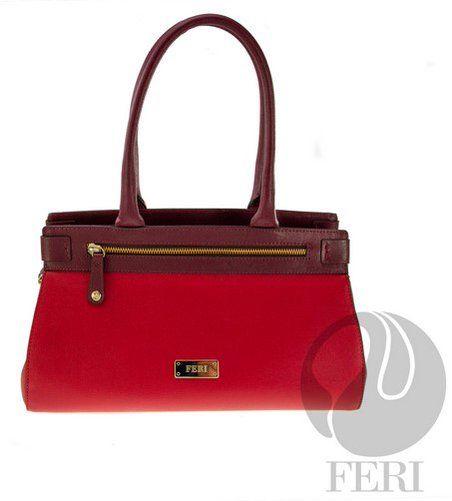 Genuine leather two tone handbag C$2,548 http://bit.ly/1SL570G