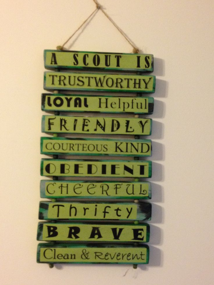Boy Scout Law sign
