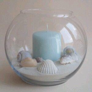 Crea de una manera rápida y sencilla un bello centro de mesa con tema marino para la decoración de tu hogar o para usarse en una fiesta o r...