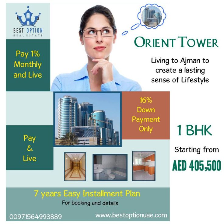 Best Option Real Estate  Orient Tower in Ajamn  Brand New Building with an amazing investment offer.