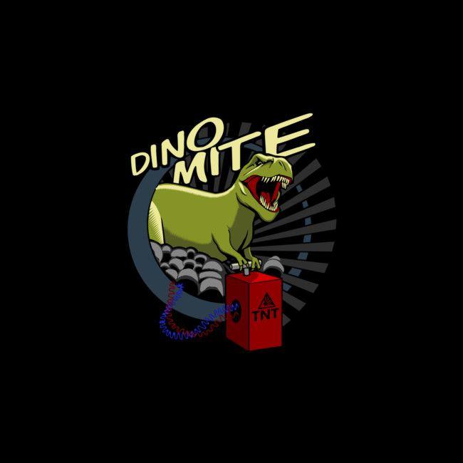 DINOMite! Boom fckyeah explosions. #dinosaur #funny #shirt #design #clothing #pun #humor #illustration #art