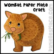 Wombat Paper Plate Craft from www.daniellesplace.com