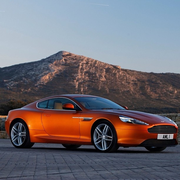 Stunning Orange Aston Martin Virage! Mmm