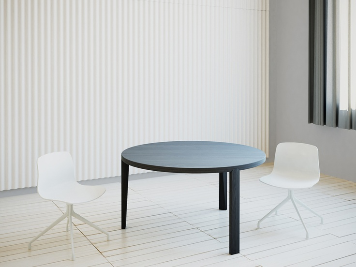 HEXA round table by studio brovhn. grey oak finish. www.studiobrovhn.com #studiobrovhn #furniture #table #wood