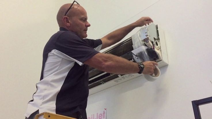 Learn how to  clean and santize a split air conditioning system