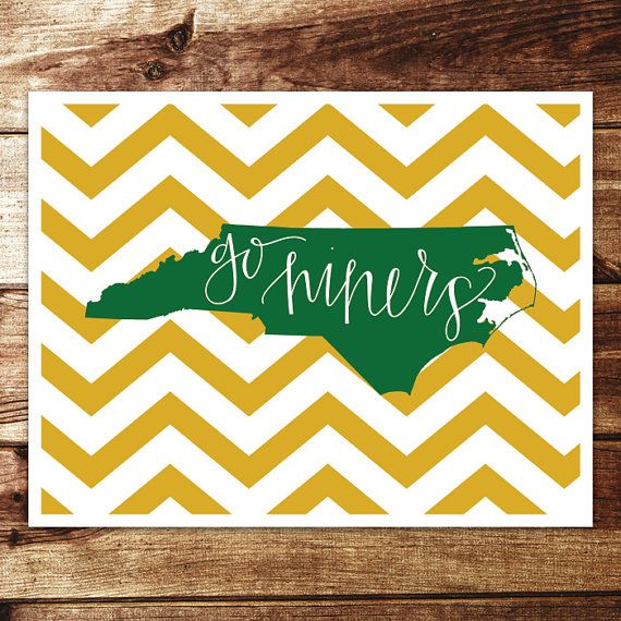UNC-Charlotte: Go Niners Print by evannicoledesigns on Etsy