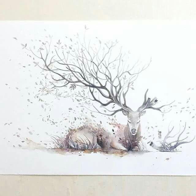Beautiful deer painting