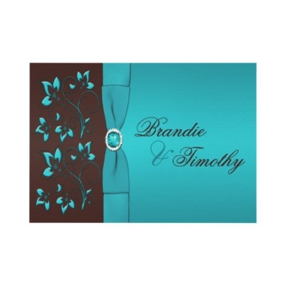 brown turquoise wedding ideas - $1.82 at zazzle