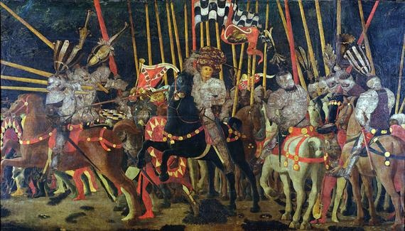 """The Battle of San Romano in 1432"" by Paolo Uccello (C15)"