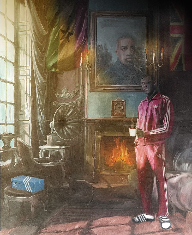 Reuben Dangoor U.K. artist paints grime rappers to look like British nobility - LA Times