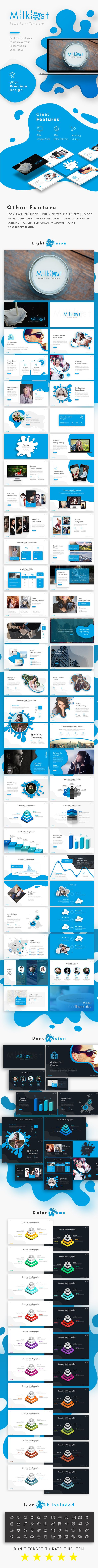 #Milkiest Creative Presentation Template - #Creative #PowerPoint Templates