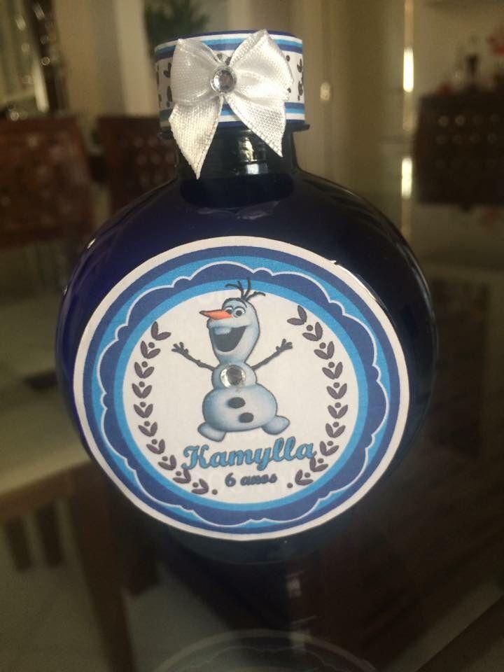 Água personalizada festa Frozen
