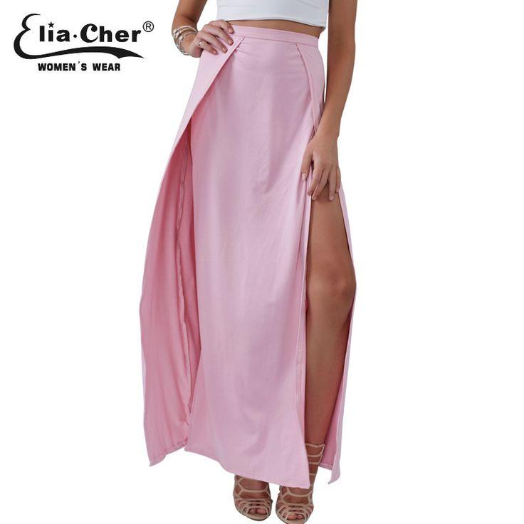Knitting Skirts Long Maxi Skirt Eliacher Brand Plus Size Casual Women Clothing Chic Sexy Lady Long Skirt 83021