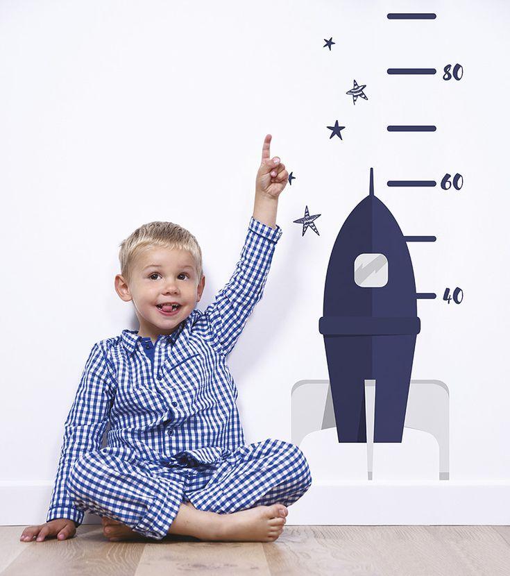 Lilipinso Wandaufkleber-Messlatte 'Rakete' marine/hellgrau bis 120cm - im Fantasyroom Shop online bestellen oder im Ladengeschäft in Lörrach kaufen. Besuchen Sie uns!