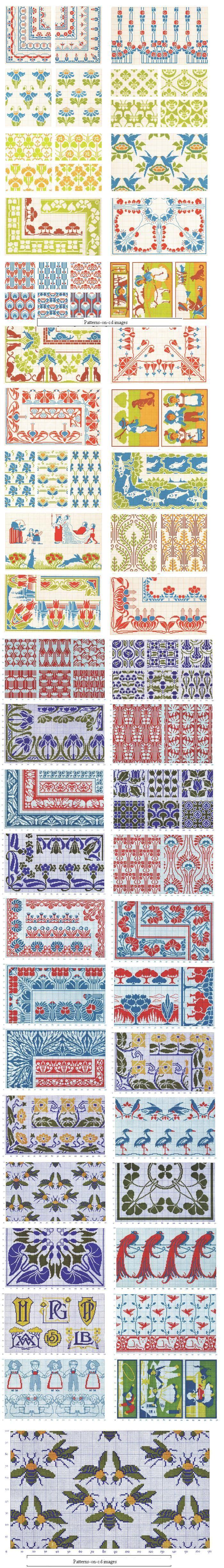 44 Collage Victorian DMC Cross Stitch Charts Pattern CD | eBay