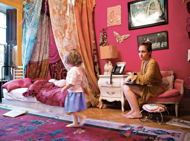 This is an adorable bohemian kid's room!  Life in Pictures: Jemima Kirke -- Vulture