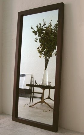 Leaning mirror idea for the family room but maybe in for Leaning wall mirror