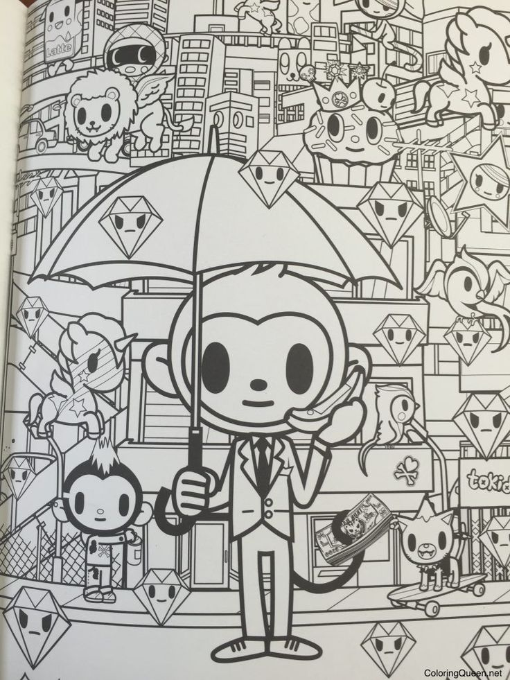 tokidoki coloring pages #2  coloring pages drawings color
