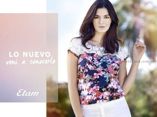 blusa-estampada-con-encaje-verano-2016-etam.jpg (600×450)