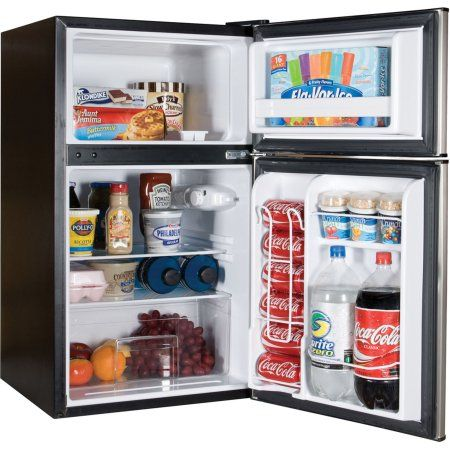 Home Mini Fridge Two Door Refrigerator Dorm Fridge