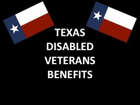 Texas Disabled Veterans Benefits - http://militaryveteransworldwide.com/benefits/texas-disabled-veterans-benefits/