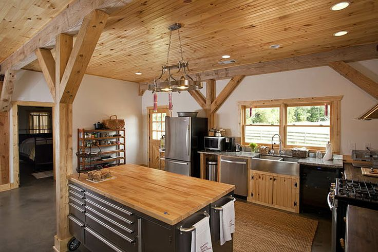 304 best barns images on pinterest building homes pole for Barn kitchen ideas
