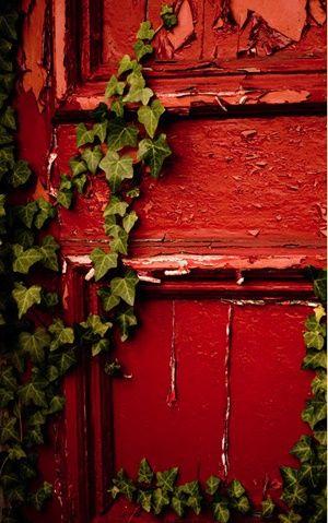 .Red door vintage.