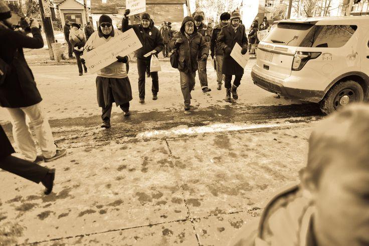 Ottawa Euromaidan.  November 24, 2013.  Somerset Street.  Ottawa, Canada.