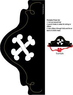 Pirate Hat printable